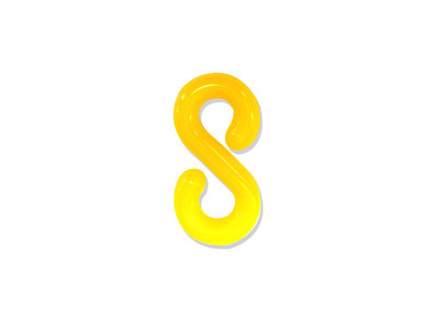 Plastic Chain -S- Hook YELLOW