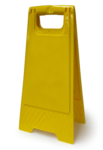 Blank Yellow A-Frame 300mm x 600mm high plastic