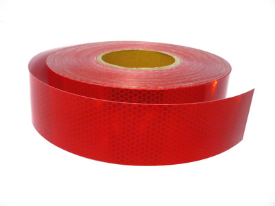 50mm Class 1 Reflective Tape RED 50 metre ROLL