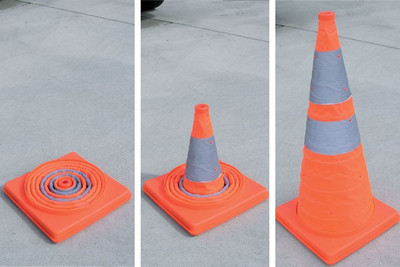 Collapsible cone 720mm - plastic base