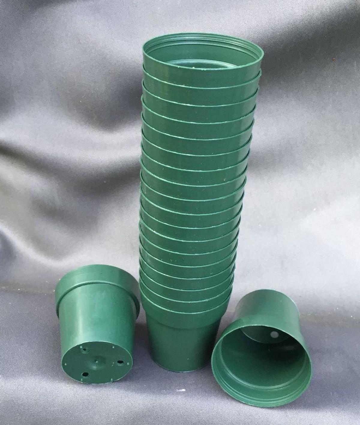 Green round 2 plastic flower pots secret garden rare plants green round 2 plastic flower pots workwithnaturefo