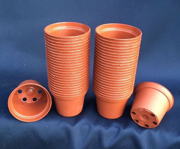 TO 5.5 Terra-Cotta colored Plastic Flower pots