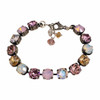 Pretty in Pink Antique Finish Chaton Bracelet with Crystals from Swaorvski