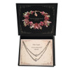 Mother Daughter Necklace Simulated Pearl with Crystals from Swarovski