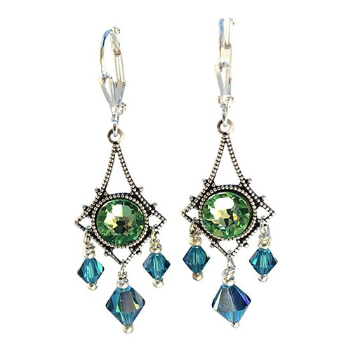 Vintage Inspired Chandelier Crystal Filigree Earrings