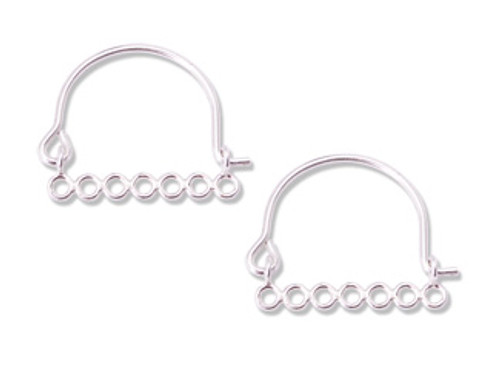 Sterling 7 Ring Linkable Earwire (1 pair)