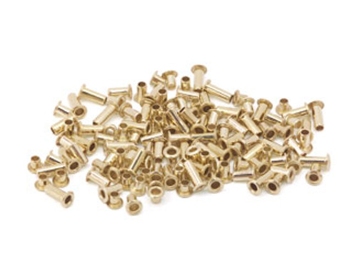 "Assorted 3/32"" Dia. Brass Eyelets (120 pcs.)"
