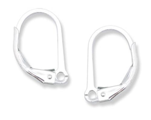 Argentium Leverback with Split Ring  (6 pcs.)