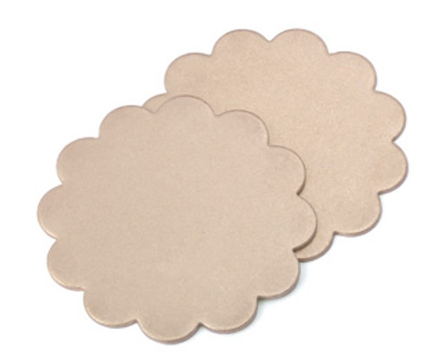 "Brass 1-1/8"" Scalloped Edge Blank (2 pcs.)"