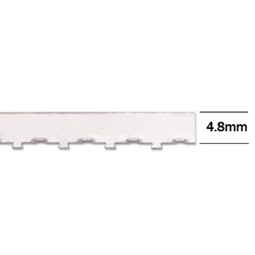"4.8mm Wall Tabbed Straight Edge Bezel Wire (12"" length)"