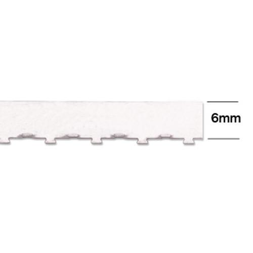 "6mm Wall Tabbed Straight Edge Bezel Wire (12"" length)"