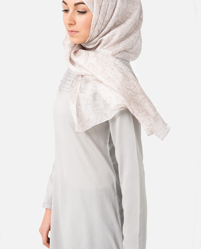 Midsummer Night's Cream Silk Hijab
