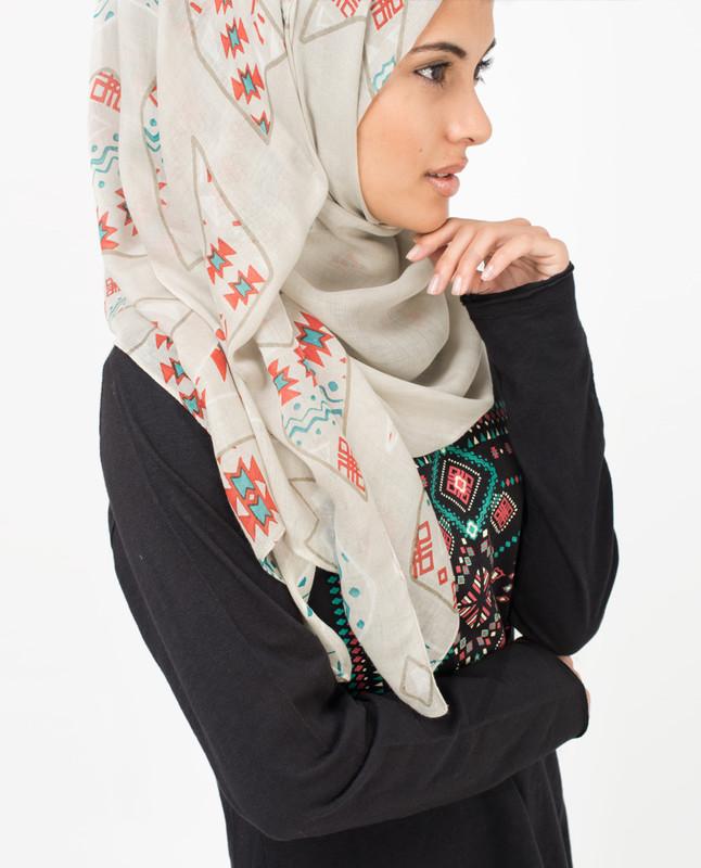Silver Grey Hijab
