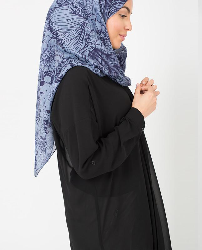 Inked Petals Hijab