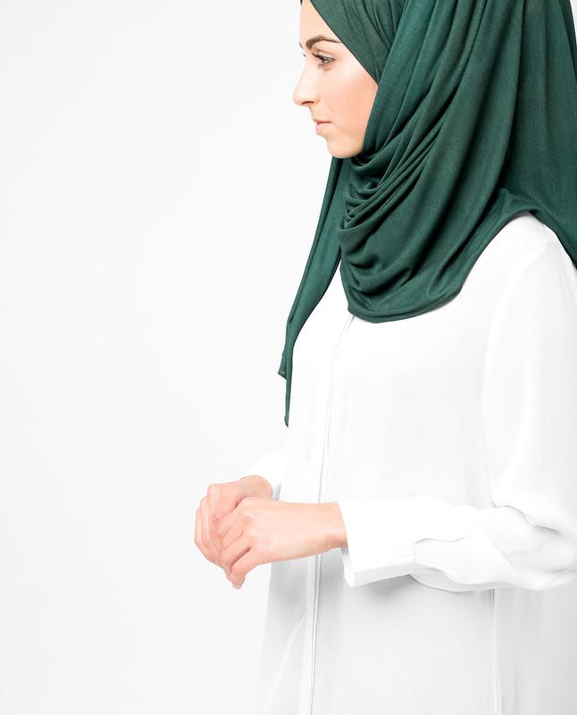 Deep Teal Viscose Jersey Hijab