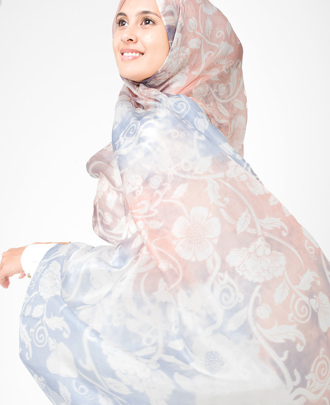 Eventide White Hijab