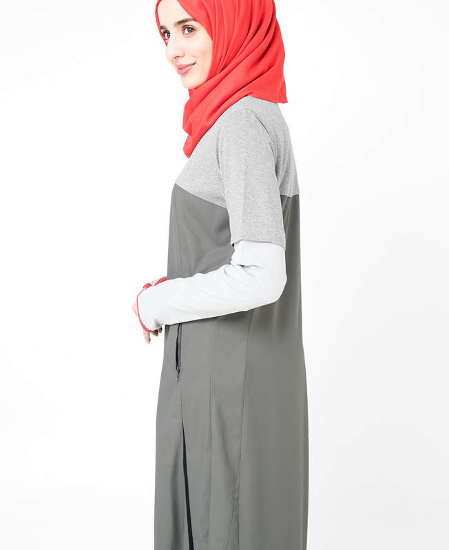 Black Two Toned Jilbab
