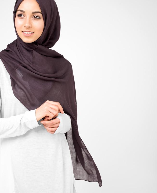 Raisin Brown Viscose Hijab