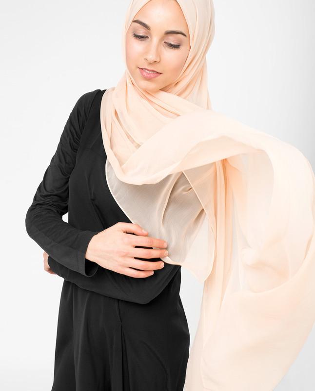 Amberlight Orange PolyChiffon Hijab