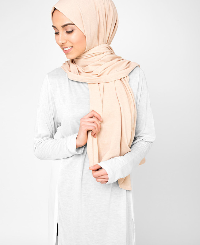 Moonlight Beige Cotton Jersey Hijab