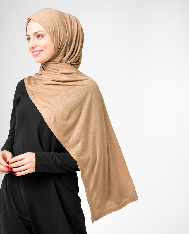 Cuban Sand Beige Viscose Jersey Hijab