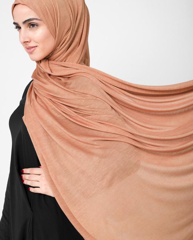 Muted Clay Orange Viscose Jersey Hijab