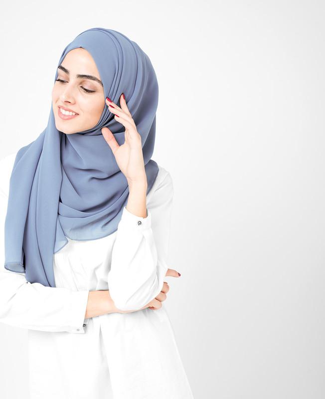 Blue Heaven Poly Georgette Hijab