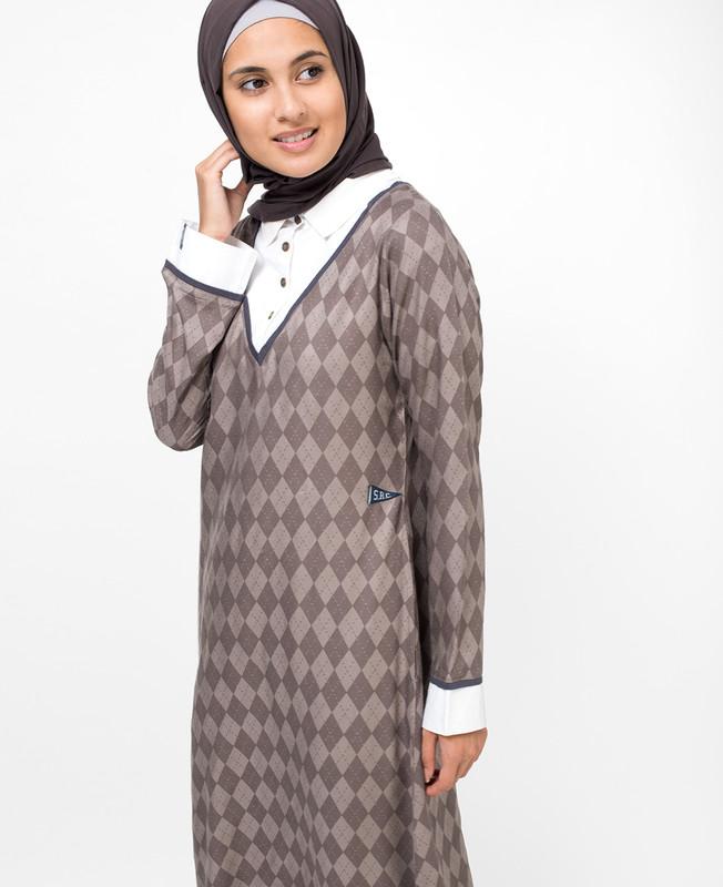Polo Button Abaya