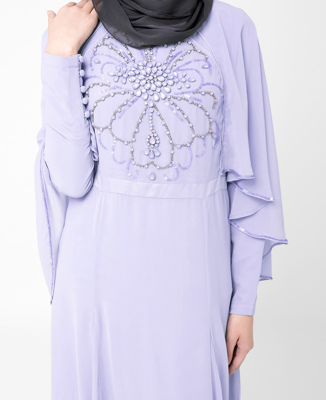Eventide Blue Embellished gown