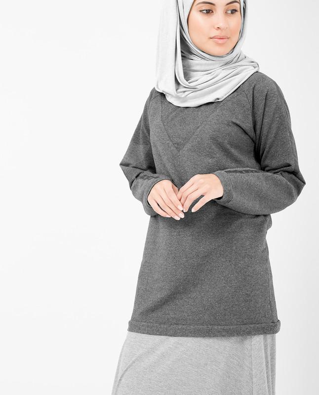 Dark Grey Cotton Top