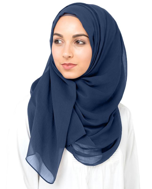 Moon Indigo Polychiffon Hijab