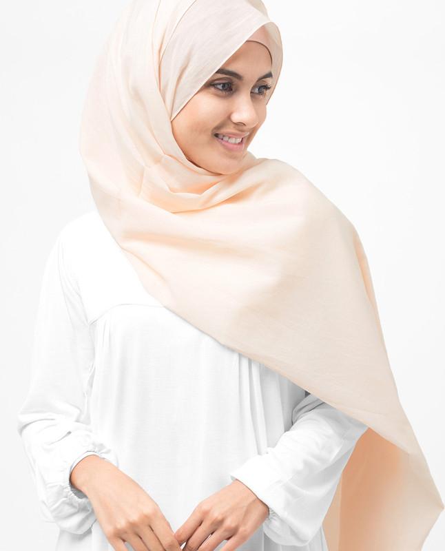 Nude Cotton Voile Hijab