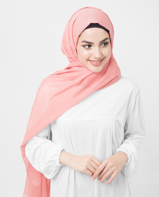 Crabapple Cotton Voile Hijab