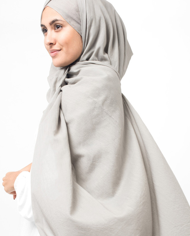Ash Cotton Voile Hijab