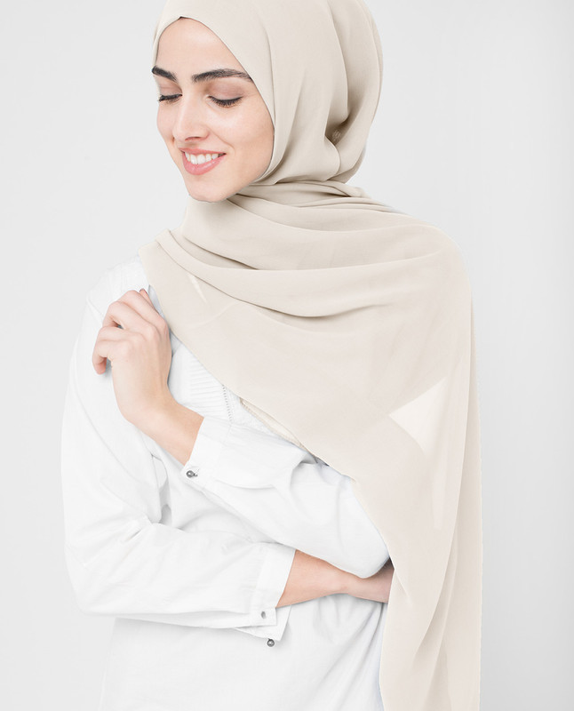 Sand Dollar Poly Georgette Hijab