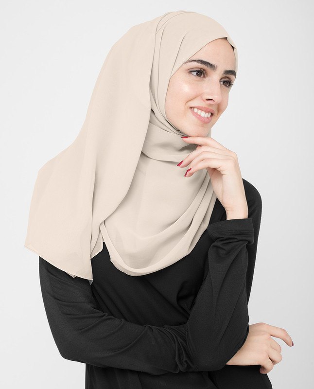 Whisper Pink Poly Georgette Hijab