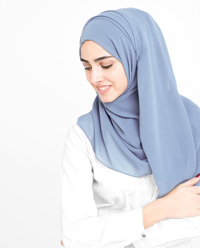 Languid Lavender Poly Georgette Hijab