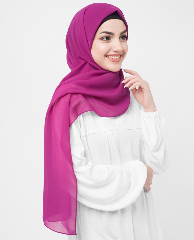 Raspberry Radiance Poly Georgette Hijab