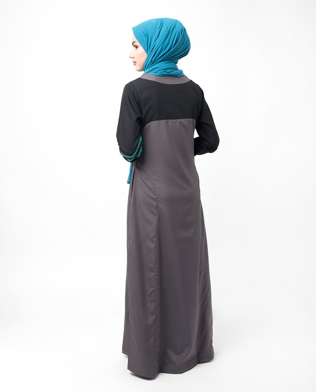 Draw String Detail Black Jilbab