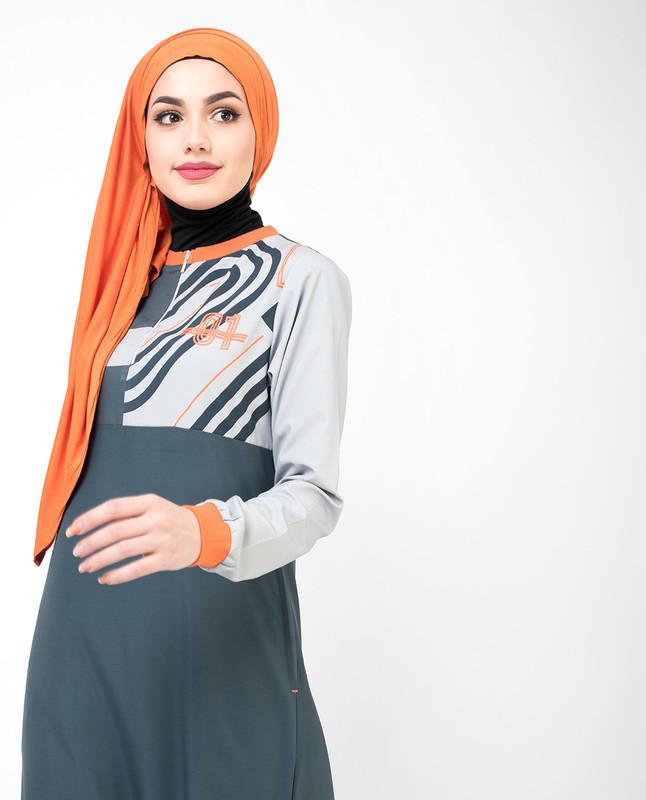 Dark Grey 01 Active Jilbab