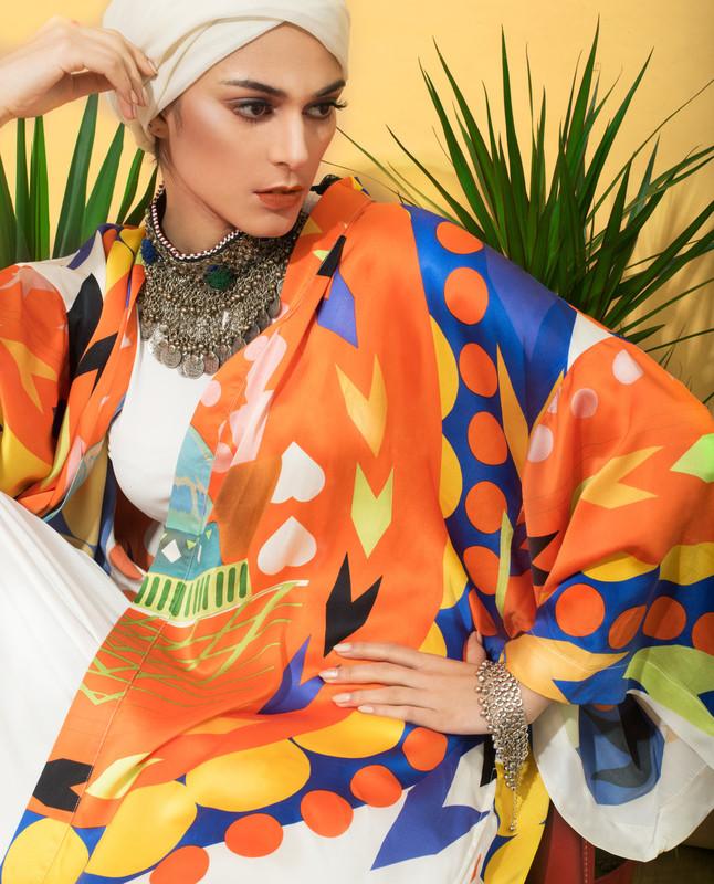 Sunset Silk Abaya