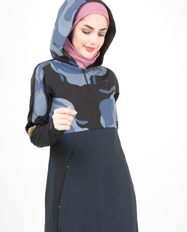Blue Camo Hooded Jilbab