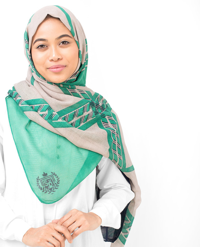 Green Check Viscose Hijab