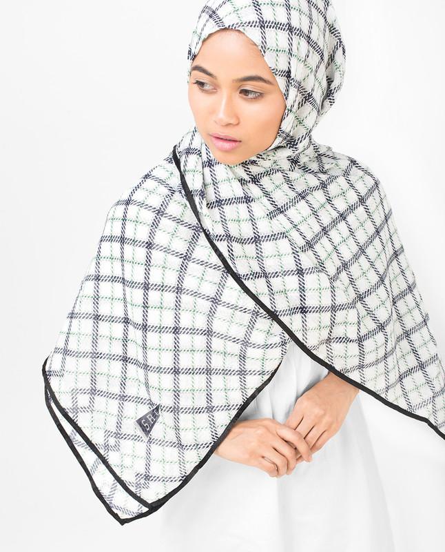 Check Motif Viscose Hijab