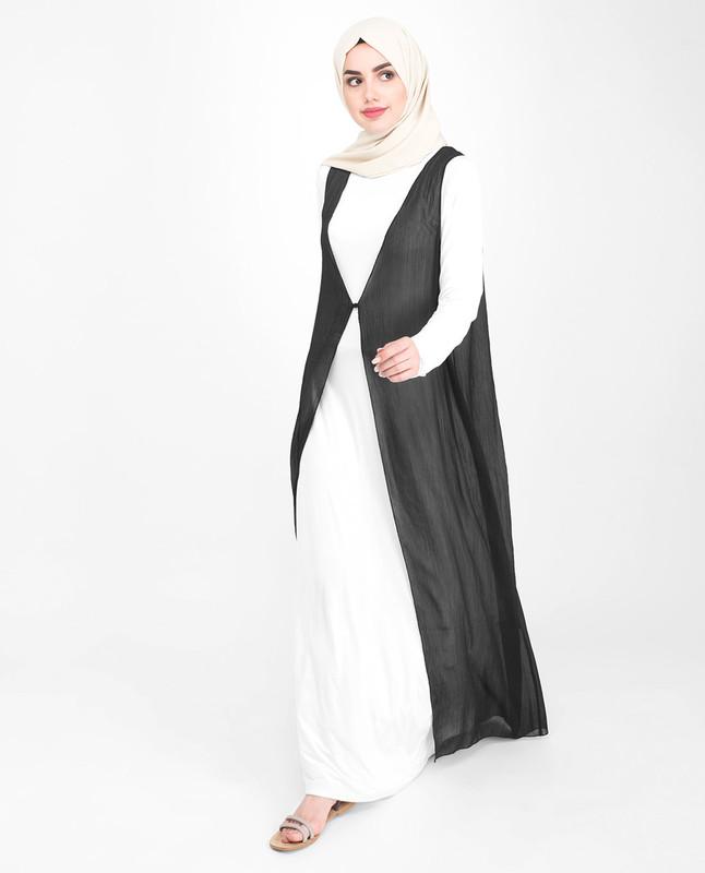 Long Chiffon Sleeveless Outerwear