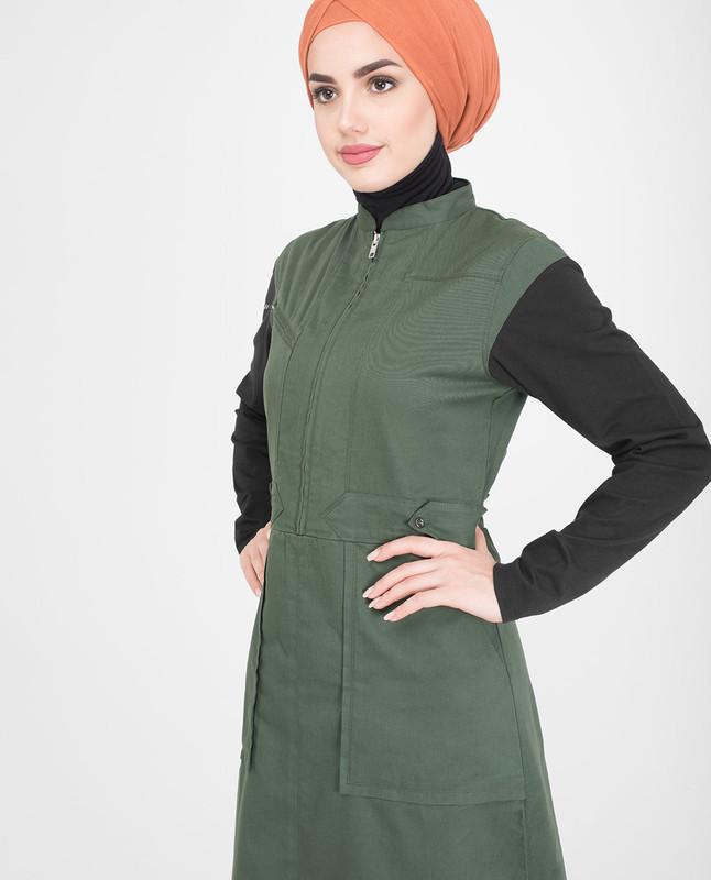 Green jilbab abaya