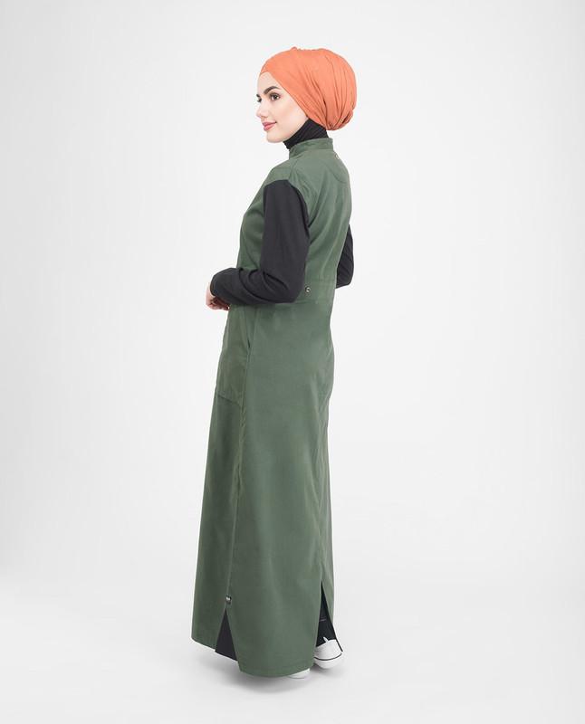 Green & Black Utility Jilbab