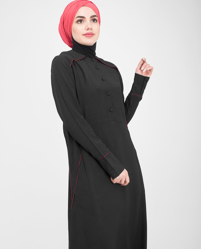 Black Flared Jilbab