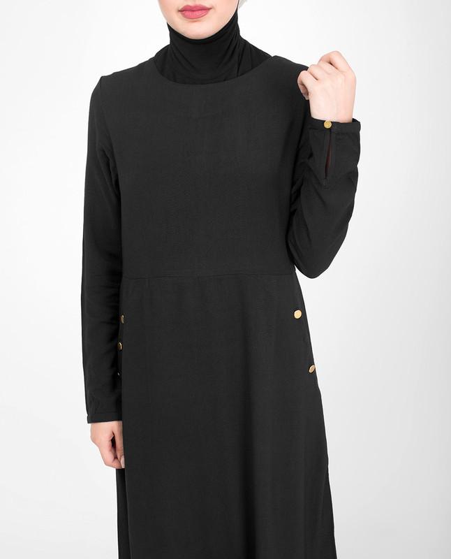 Special occasion black abaya jilbab