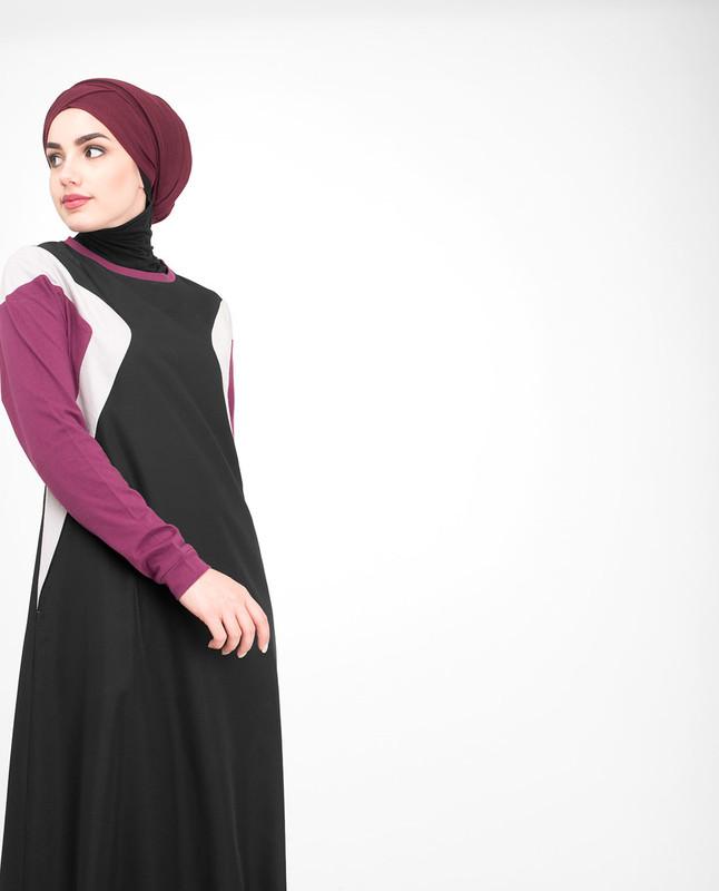 Round collar jilbab abaya